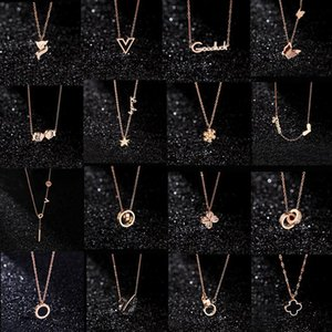 20 styles Designer Jewelry Black Swan Clover Necklace 18K Rose Gold Necklace Platinum Luxury Woman lover's gift