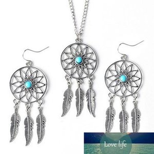 Hot Fashion Pendant Alloy Dream Catcher girl Necklaces+earring sets For Women Statement Necklace Jewelry free shipping