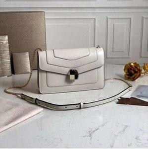 New Pattern Snake Head Lock Buckle Shoulder Bag Top Quality Designer Flap Crossbody Bag Genuine Leather Chain Woman Handbag