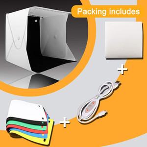 2 LED Folding Lightbox Mini Portable Photography Photo Studio Softbox Adjustable Brightness Light Box For DSLR Camera