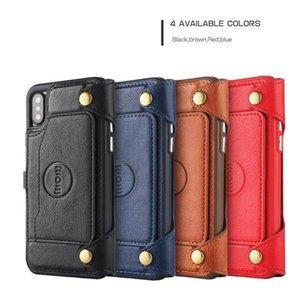 cgjxs lujo Monedero multifunción real cuero partido de la cremallera casos para el iPhone X 8 Plus 6 6s Holder 7 Card Plus Soporte monedero cubierta de la bolsa
