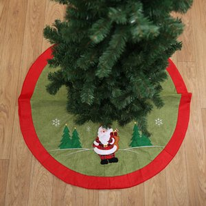 105cm Christmas Tree Skirt Christmas Tree Carpet Snowflake Skirt New Year Decorations Decorations For Home