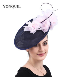 Vintage church Big Fascinators party hats women formal derby wedding headwear veils accessories bridal ladies days headpiece