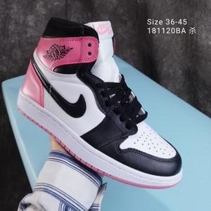 2020 scarpe Air NakeskinGiordaniaAJ1Aj1Sneakers Uomo Donna Fly pallacanestro scarpe da tennis Chaussures Shattered indietro scarpe