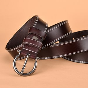 New Hot Selling Belt Cowhide Women Pin Buckle Leather Waistband Simple Fashion Korean Decorative Belt Factory Wholesale
