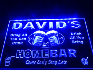 DZ001- Home Bar Beer Family Name LED Neon Light Sign hang sign home decor crafts C0926