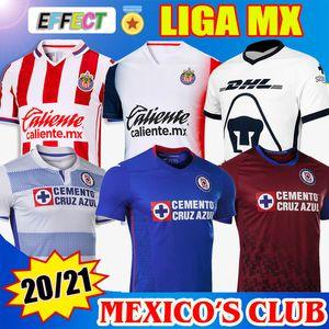 2020 2021 Club de Cruz Azul Football Maillots 20/21 Accueil Bleu extérieur Blanc Troisième rouge de football Chemises camisetas futbol Kit Thaïlande Jersey