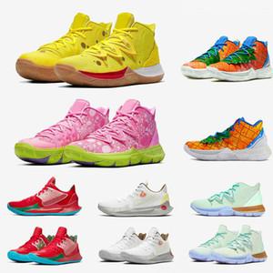 2020 Mann-Basketball-Schuhe Schwamm Pineapple House 5 Zapatos Kyrie Irving 5 PE Für 20 Jahre Graffiti Mann Schuhe