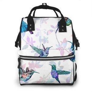 Moda Mummy Maternidade Fralda Bag Tropical Exotic Hummingbird grande capacidade de Enfermagem do bebê saco de viagem para Baby Care