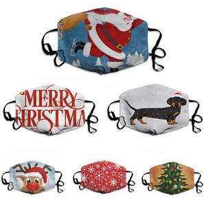 Рождество Ситца партия маска для взрослых Funny Face Mask Рот Муфельные многоразовый Анти Dust ветрозащитный моющийся уха Loop Mask