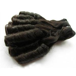슈퍼 더블 인간의 머리카락 그려 공장 메이크업 순서는 처리되지 않은 처녀 머리 확장 자연 색상 100g / 개에게 후미 머리 도매 번들