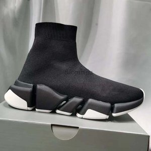 Homens Mulheres Sapatos casuais Sock VELOCIDADE Shoe 2,0 Sports malha estiramento Sneakers Speed Trainer Sock Raça Comfort Sapatos Pretos Branco Oreo e1