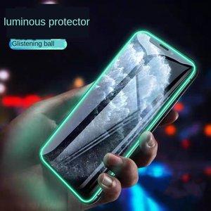 Verre Trempé lumineux pour IP11 Pro XS Max 6 7 8 Plus Fluorescence écran protecteur pour IP X XR SE Film anti-chute