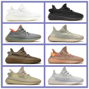 Tail nuovo Kanye West statico nero Refective Terra Luce Zebra formatori scarpe da tennis Taglia 37-47 Mens Womens statici nero refective Running Shoes