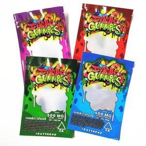 Dank Gummies Bolsas Edibles bolsas de embalaje Worms 500MG Edibles osos de gominola Cubos bolsos al por mayor