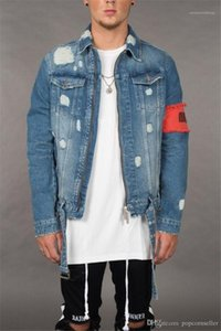 Jackets Winter Designer Ripped Distressed Zipper Fly Jean Jackets Fashion Casaul Mens Streetwear Teenager Designer Jean