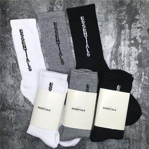 White Black 2021FWSS e-letter in stock Socks Women Men Unisex 100% Cotton Basketball Socks