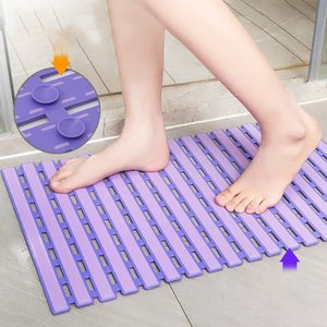 Shower Mat Non Slip Bathtub Mats Bath Mats for Shower Tub with Suction Cups and Drain Holes 25X15.7 Inches