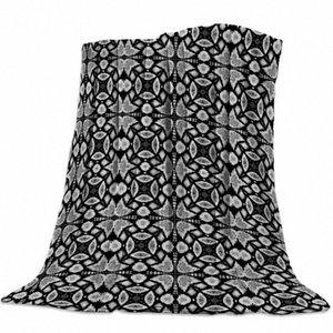 Grigio e nero Animali Design Pattern panno morbido della flanella Bed Coperta Copriletto Coverlet Bed Soft Cover Leggero caldo Coperte Zika #