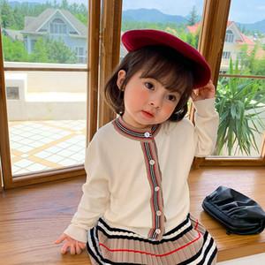 Milancel 2020 otoño New Girls Ropa Set Niñas Suéter y Falda Plisada 2 PCS Kids Suit Chicas Outfit X0923