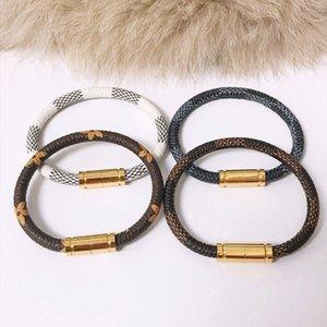 Louis Vuitton 19cm Liebe Mode Louis-Leder-Armbänder halten für Männer Frau Designers Paare V Sperre Armband Blume es Muster Armband Schmuck xB3l #