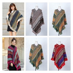 new Spring and autumn cloak Shawl knitted pullover tassel scarf coat women's long shawl for warmth Imitation Cashmere Scarf T2I51537