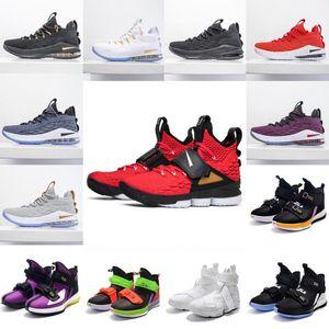 2020 zapatos de primera calidad 15s baloncesto de los hombres de Igualdad Inicio Lakers Violeta de Oro James zapatillas de deporteLebron 15 deportes zapatillas de deporte Tamaño 40-46 # Wtn6