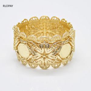 European Fashion Napoleon Figure Gold Metal Bracelet Hollow Out Design Jewelry Cuff Bracelets Arabic Luxury Bridal Hand Bangles