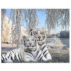 Diamante bordado Venda White Tiger completa diamante Pintura Cross Stitch 5D Resina diamante Mosaic broca Hobby Factory Direct
