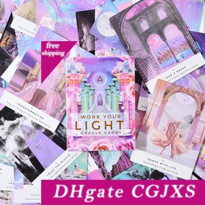 44 шт Oracle Таро Карты Sheets Work Your Light Board Oracle Card Deck Games Palying карты Game Entertainment