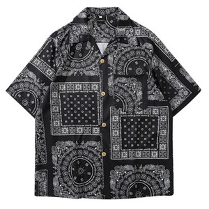MoneRffi Кимоно Стиль Мужские рубашки 2020 Janpanese Стиль печати Сыпучие Harajuku рубашки Женщины Мужчины Пара Кимоно юката Tops лето