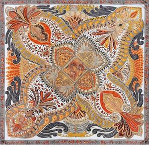 Top Grade 100% Satin Silk Scarf Luxury Hand Rolled Edges Women Fashion Square Scarves Hijab Foulard 105x105cm