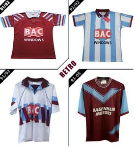 1991 1992 West-Centenary Retro Fußball-Trikot Cole Di Canio Lampard Dicks 93 95 camiseta Startseite Ham Vintage-Fußballhemd