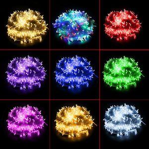 DHL Led Струны рождественские огни сумасшедшие продажи 10M / PCS 100 светодиодных строк свет украшения 110V 220V для венчания партии привели освещения праздника