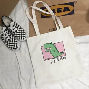 Korean cute letter shoulder bag female new cartoon Harajuku letter print Japanese dinosaur fashion casual summer shoulder bags