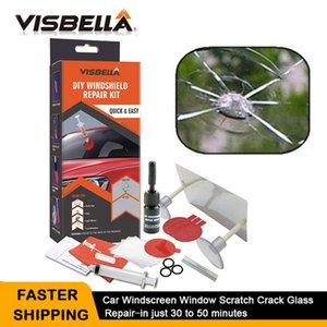 Fillers VISBELLA Car Windshield Repair Kits DIY Quick Window Repair Tools Windscreen Glass Scratch Crack Restore Window Screen Polishing