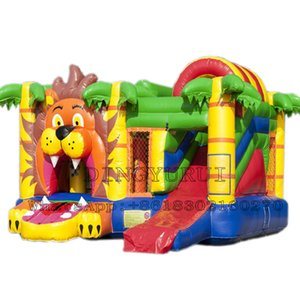 New Design Indoor Outdoor Inflatable Jungle Bounce Combo Kids Funny Game Jumping Bouncer with Slide and Trampoline