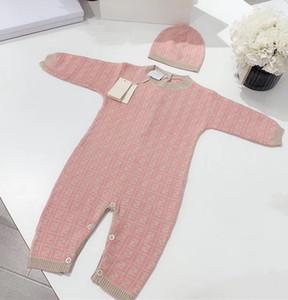 Baby Boy Romper Одежда 0-3year Новорожденный Девушка Rompers хлопка с длинным рукавом комбинезон Экипировка Одежда Hat For Kids Детские Onesie Осень