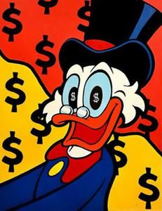 Alec Monopoly pintada decoración de arte loco dinero Decoración Artesanías / impresión de HD pintura al óleo sobre lienzo arte de la pared de la lona representa 200821