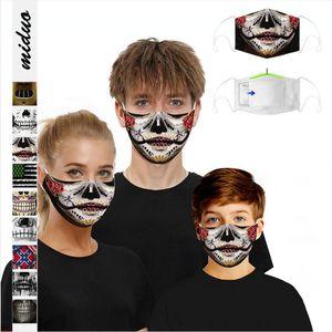 Confederate Flag Face Mask Breathable Washable Dustproof US Battle Southern Flag Protective Adjustable Mask Adult Mouth Cover LJJP275