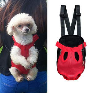 Pet Travel Dog Peito Bag Pet Carrier ombro Handle Bags respirável gato Outdoor Products portátil malha Backpack