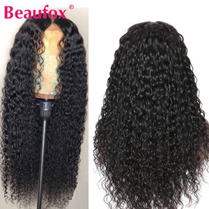 Beaufox 360 Lace Frontal Wig Brazilian Water Wave Human Hair Wigs For Black Women Pre Plucked With Baby Hair 150% Remy Lace Wigs