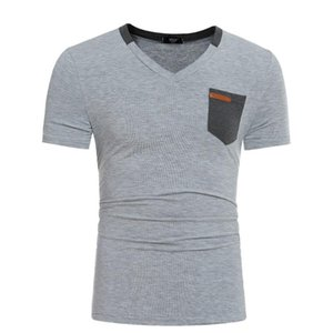 2020 foreign trade new real men short sleeve T shirt unique pocket design leisure short sleeve