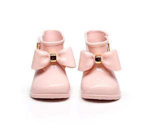 Mini Melissa 2020 New Rainboots Jelly Children Rain Boots Girl Anti-skid Bottom Water Shoes