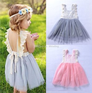 Neonate Lace Backless INS bambini Tutu filato della rete principessa dei vestiti di nuovo estate Bambino Abbigliamento Boutique
