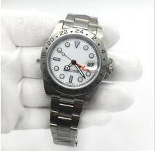 2020 Hot Vente Mens Watch EXP cadran blanc Mouvement mécanique automatique en acier inoxydable Hommes Montres Homme Montres-bracelet