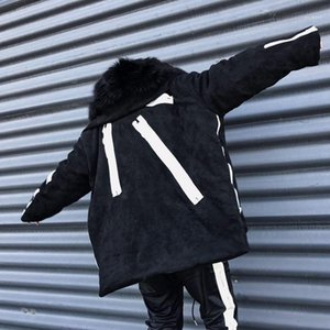 Coats Fashion Panelled Zipper Thick Warm Coats New Fluffy Hat Oversize Coat Winter Mens Designer