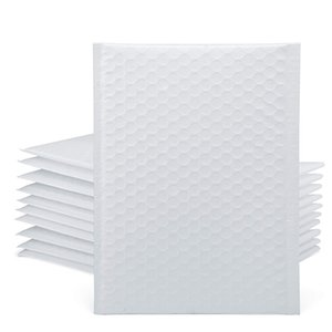 50 Pcs Co-Extrusion Film Bubble Bag Waterproof and Dustproof Bag Thickened Packaging Express Bag(White)