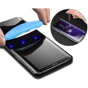 UV NANO Optics Liquid Full Cover Glue 3D Curved Tempered Glass Screen Protector For Samsung Galaxy S6 S7 Edge S8 S9 Plus S10 S10e Note 8 9