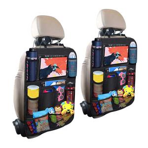 카시트로 돌아 가기 주최자 멀티 포켓 스토리지 가방 수호자 터치 스크린 태블릿 홀더 스토리지 주최자 안티 킥 매트 키즈